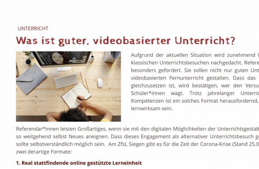 Videobasierter Unterricht